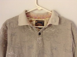 Subscript Polo Short Sleeve Size M Tan Light Brown Shirt Stitched on Design image 3