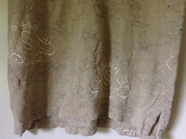 Subscript Polo Short Sleeve Size M Tan Light Brown Shirt Stitched on Design image 4