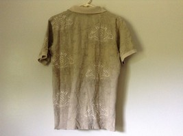 Subscript Polo Short Sleeve Size M Tan Light Brown Shirt Stitched on Design image 7