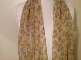Summer Sheer Fabric Feathers print Scarf, colors of your choice image 3