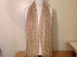 Summer Sheer Fabric Feathers print Scarf, colors of your choice image 2