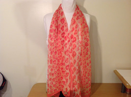 Summer Sheer Fabric Feathers print Scarf, colors of your choice image 8