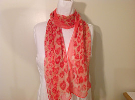Summer Sheer Fabric Feathers print Scarf, colors of your choice image 10