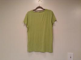 Talbots Short Sleeve Plain Light Green Citrus Green T Shirt Size Medium image 4