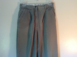 Talbots Green Casual Pants Zipper Button Closure 2 Front Pockets 1 Back Pocket image 2