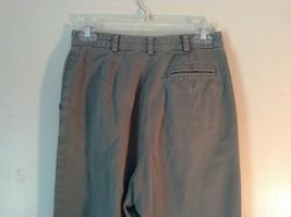 Talbots Green Casual Pants Zipper Button Closure 2 Front Pockets 1 Back Pocket image 6