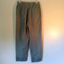 Talbots Green Casual Pants Zipper Button Closure 2 Front Pockets 1 Back Pocket image 5