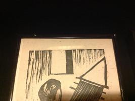TWO Original Wood cut block prints Black Frames Guatemalan Artist image 6