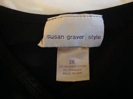 Susan Graver Black V-Neck Short  Sleeve Shirt  Size 3X image 6