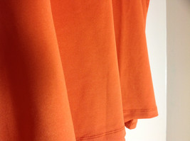 Susan Graver Orange Scoop Neck Short Sleeve Shirt Light Soft Material Size 3X image 3