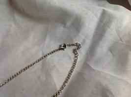 Swarovski Silver tone white stone red bubble pendent necklace image 3