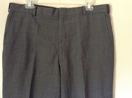 Tailored Gray Pleated Front Dress Pants 100 Percent Wool Measurements Below image 2