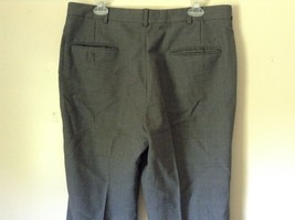 Tailored Gray Pleated Front Dress Pants 100 Percent Wool Measurements Below image 4
