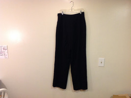 Talbots Plain Black 100% Wool Pants Fully Lined NO Pockets Size 12 Made in Japan image 2