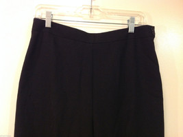 Talbots Plain Black 100% Wool Pants Fully Lined NO Pockets Size 12 Made in Japan image 3
