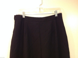 Talbots Plain Black 100% Wool Pants Fully Lined NO Pockets Size 12 Made in Japan image 6