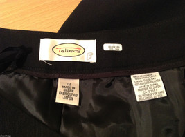 Talbots Plain Black 100% Wool Pants Fully Lined NO Pockets Size 12 Made in Japan image 9