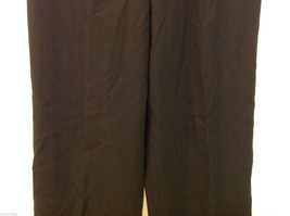 Talbots Plain Black 100% Wool Pants Fully Lined NO Pockets Size 12 Made in Japan image 4