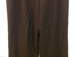 Talbots Plain Black 100% Wool Pants Fully Lined NO Pockets Size 12 Made in Japan image 7