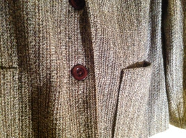 Tan Brown Tweed Like Design Button Up Blazer Alfred Dunner Size 18 image 5
