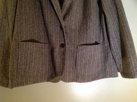 Tan Brown Tweed Like Design Button Up Blazer Alfred Dunner Size 18 image 3