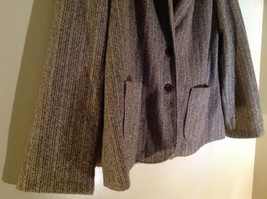 Tan Brown Tweed Like Design Button Up Blazer Alfred Dunner Size 18 image 4