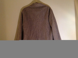 Tan Brown Tweed Like Design Button Up Blazer Alfred Dunner Size 18 image 6