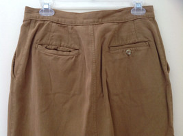 Tan Longer Length 4 Pocket Skirt Button Zipper Closure Jones New York Size 10 image 5
