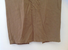 Tan Longer Length 4 Pocket Skirt Button Zipper Closure Jones New York Size 10 image 3