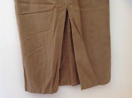 Tan Longer Length 4 Pocket Skirt Button Zipper Closure Jones New York Size 10 image 6
