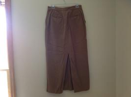 Tan Longer Length 4 Pocket Skirt Button Zipper Closure Jones New York Size 10 image 7