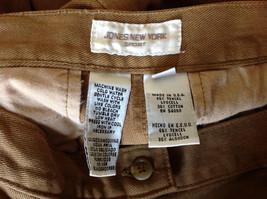 Tan Longer Length 4 Pocket Skirt Button Zipper Closure Jones New York Size 10 image 8