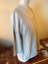 Tan Metallic Liz Claiborne Three Quarter Length Sleeve Length Shirt Size XL image 2