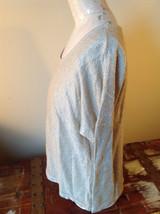 Tan Metallic Liz Claiborne Three Quarter Length Sleeve Length Shirt Size XL image 4