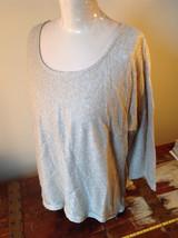 Tan Metallic Liz Claiborne Three Quarter Length Sleeve Length Shirt Size XL image 5