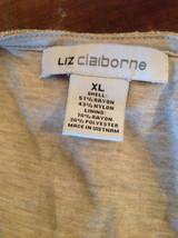 Tan Metallic Liz Claiborne Three Quarter Length Sleeve Length Shirt Size XL image 8
