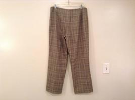Tan Light Brown Plaid Talbots Petite Stretch Size 14 Lined Pants Side Zipper image 2
