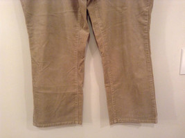 Tan L A Blues Velvet Jeans Size 18WS Zipper and Button Closure Pockets image 4