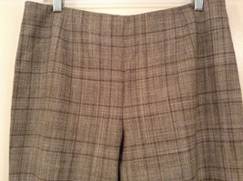 Tan Light Brown Plaid Talbots Petite Stretch Size 14 Lined Pants Side Zipper image 4