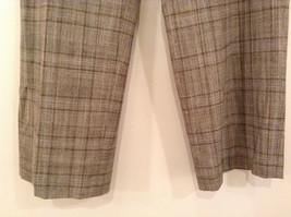 Tan Light Brown Plaid Talbots Petite Stretch Size 14 Lined Pants Side Zipper image 5