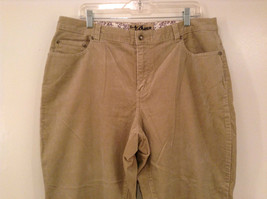 Tan L A Blues Velvet Jeans Size 18WS Zipper and Button Closure Pockets image 3