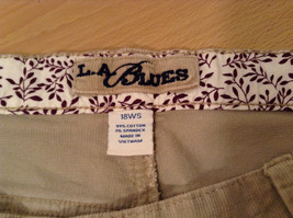 Tan L A Blues Velvet Jeans Size 18WS Zipper and Button Closure Pockets image 7