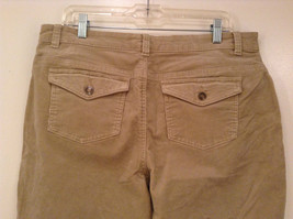 Tan L A Blues Velvet Jeans Size 18WS Zipper and Button Closure Pockets image 5