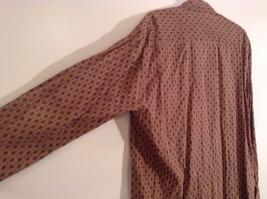 Tan Dark Blue Patten Souleiado Button Up Shirt Size 5 European Made in France image 6