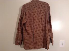 Tan Dark Blue Patten Souleiado Button Up Shirt Size 5 European Made in France image 7