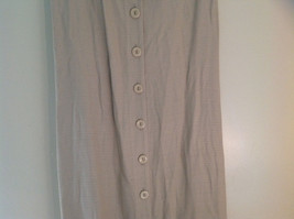 Tan Sleeveless Button Up Dress by Cimmaron Collared V Neckline Size 16 image 3