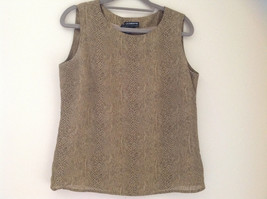 Tan Snakeskin Patterned Matching Sleeveless Shirt and Skirt Liz Claiborne Size 6 image 3