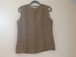 Tan Snakeskin Patterned Matching Sleeveless Shirt and Skirt Liz Claiborne Size 6 image 4