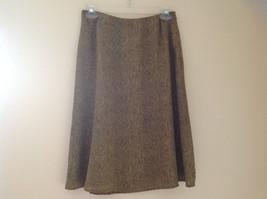 Tan Snakeskin Patterned Matching Sleeveless Shirt and Skirt Liz Claiborne Size 6 image 5