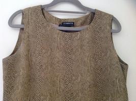 Tan Snakeskin Patterned Matching Sleeveless Shirt and Skirt Liz Claiborne Size 6 image 2